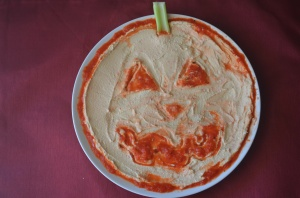 Hummus with roased red pepper