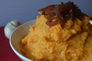 Garlic Mashed Sweet Potatoes