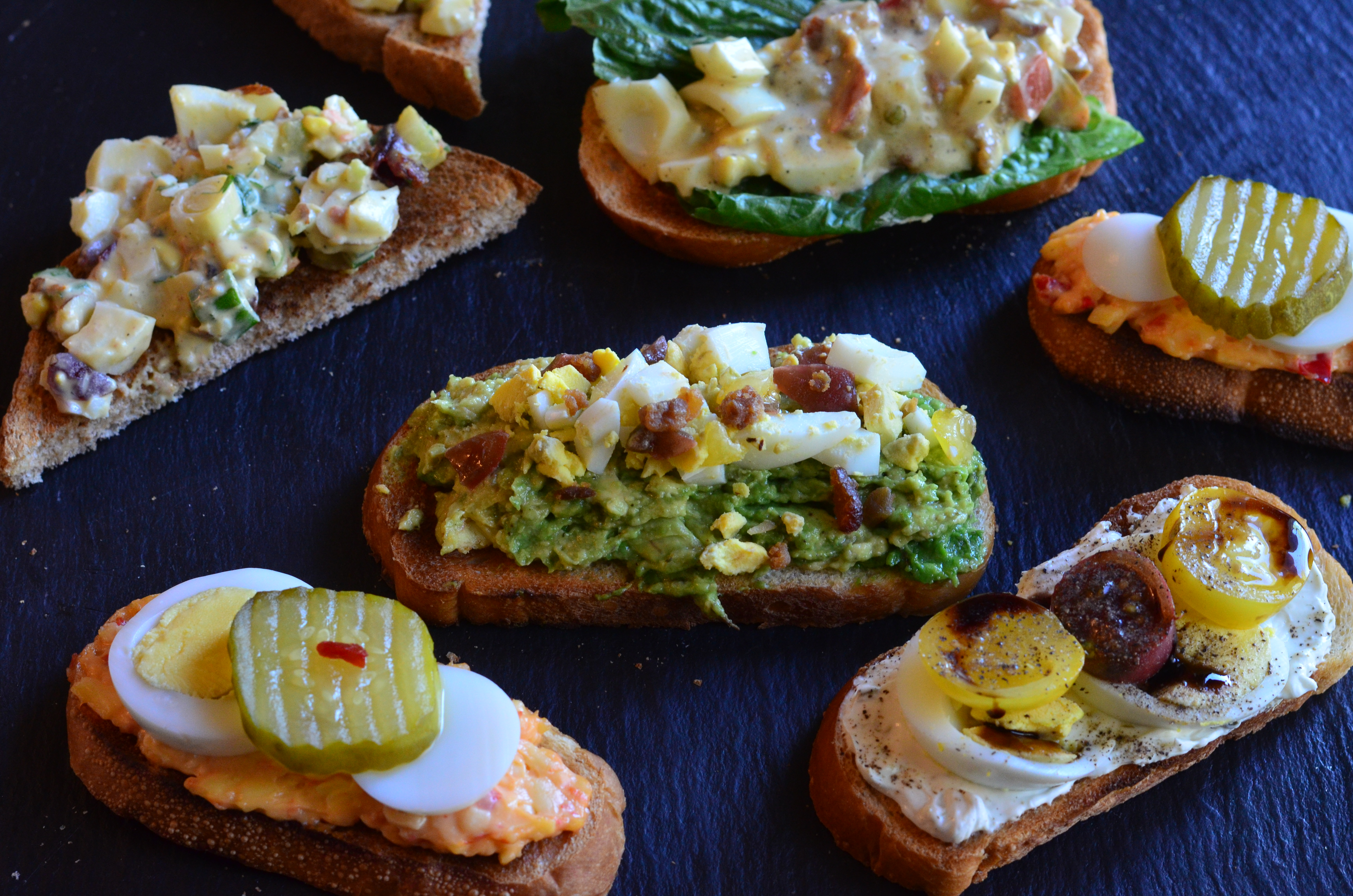 array of toasts