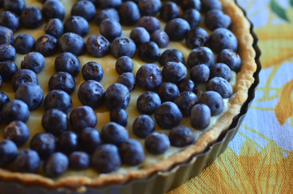 bluberry tart close