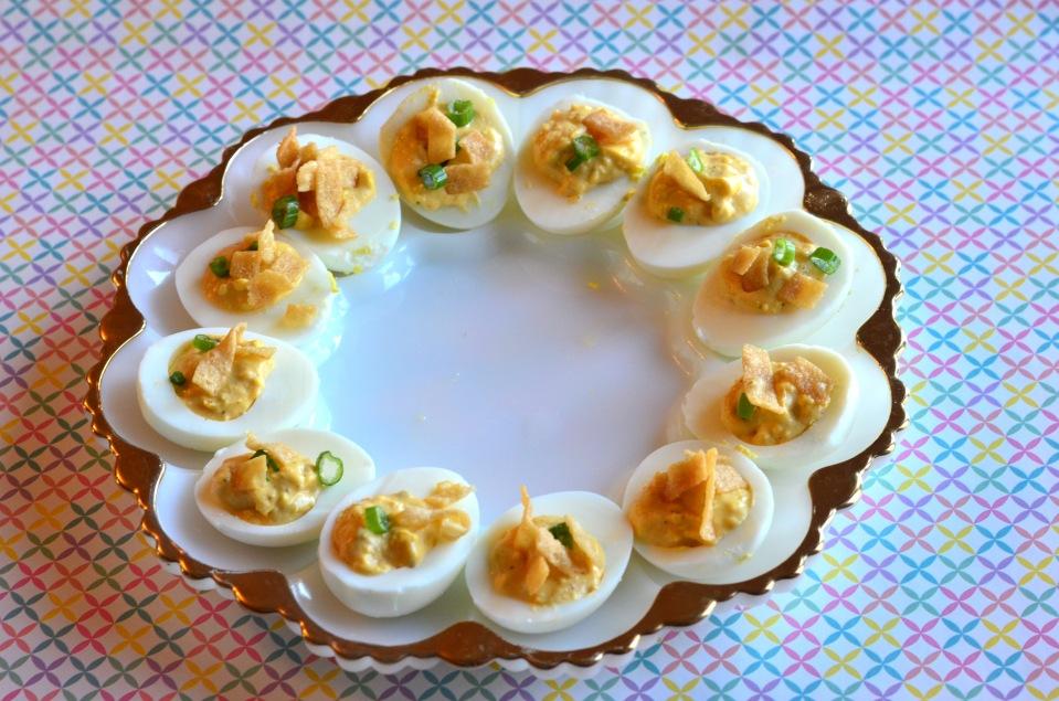 eggs on platter